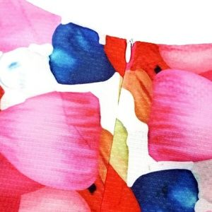 Tops - Colorful Abstract Floral Crop Top